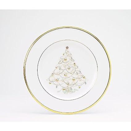 Noritake Palace Christmas Gold Holiday Accent Plates Set of 4  sc 1 st  Amazon.com & Amazon.com | Noritake Palace Christmas Gold Holiday Accent Plates ...