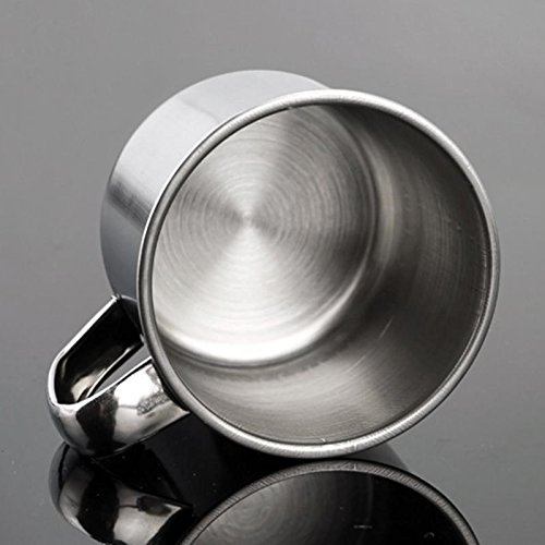 Funnytoday365 Stainless Steel Coffee Tea Mug Cup For Camping/Travel/Home Use