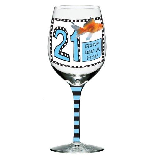 Enesco Howlers Birthday Goldfish 8 875 Inch