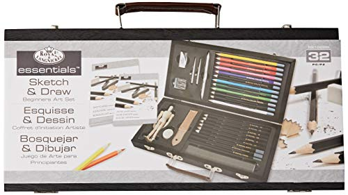 ROYAL BRUSH Essentials Art Sketching and Drawing Artist Set for Beginners, Multicolor