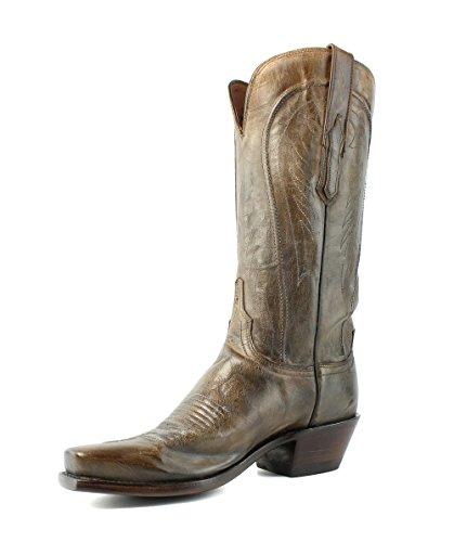 Lucchese N4770.74 Kvinners Antikk Perle Bein Distrsd Skinn Cowboy Western Boots