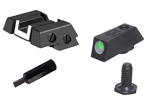 Country Surplus Supply Glock Kit - Front Night Sight & Rear Adjustable with Tool - Glock Green Front Sight