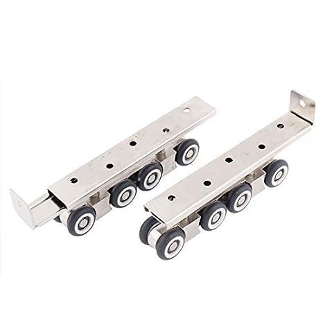 Inicio eDealMax armario ropero de cierre 8 ruedas de deslizamiento colgantes 2 piezas de la puerta del rodillo - - Amazon.com