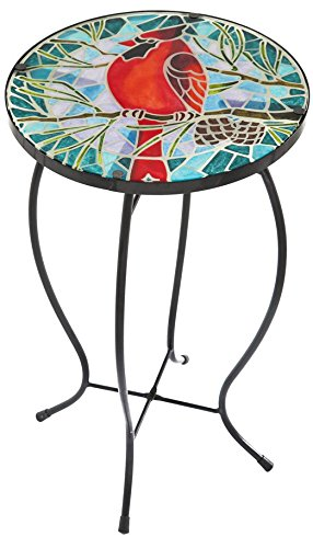 Gifted Living Cardinal Faux Mosaic (Mosaic Side Table)