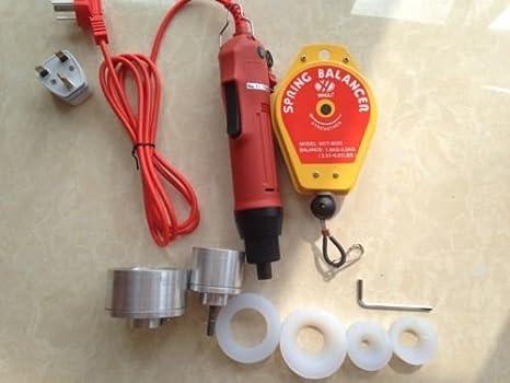 10 - 50 mm nuevo manual eléctrico botella de plástico de encapsuladoras de tornillo refrentado máquina 220 V: Amazon.es: Electrónica