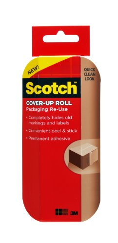 Scotch Packaging Re-Use Cover-Up Roll , 6-Inch x 30-Feet (RU-CUR30)