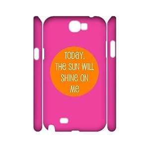 3D Dustin Funny Quote Samsung Galaxy Note 2 Cases the Sun Will Shine, [White]