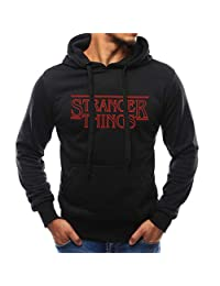FRCOLT Men's Stranger Things Print Long Sleeve Sweatshirt Workout Hoodies with Pocket