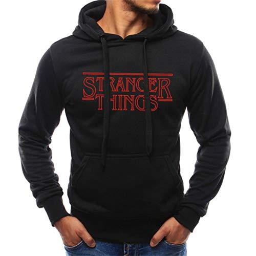 FRCOLT Men's Stranger Things Print Long Sleeve Sweatshirt Workout Hoodies with Pocket