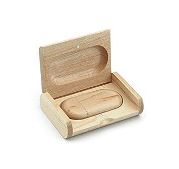 Generic - Memoria USB (madera de arce, con caja de madera) 2.0 16 gb: Amazon.es: Informática