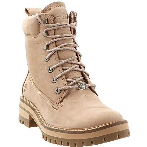 """Timberland Women's Courmayeur Valley 6"""" Boot Medium Beige Nubuck 8 B US B (M)"""