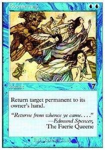 Boomerang Card - Magic: the Gathering - Boomerang - Seventh Edition