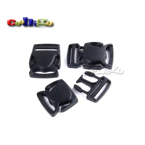 Buckes - 100pcs Pack 1'' Webbing Plastic Crab-Shape Detach Buckle for Backpack Straps Travel Bags Luggage #FLC330-25
