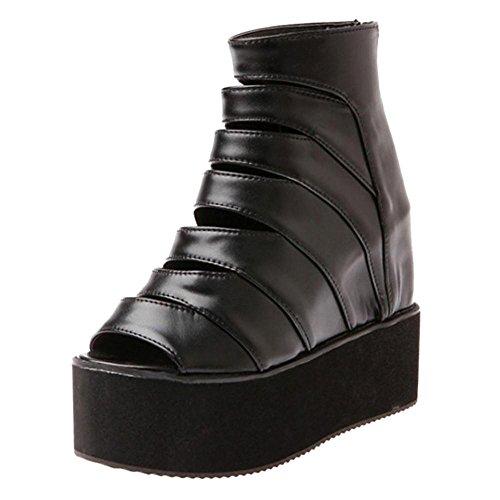 Augmentation Femmes Taoffen Black Sandales 26 5OwwUdqrt