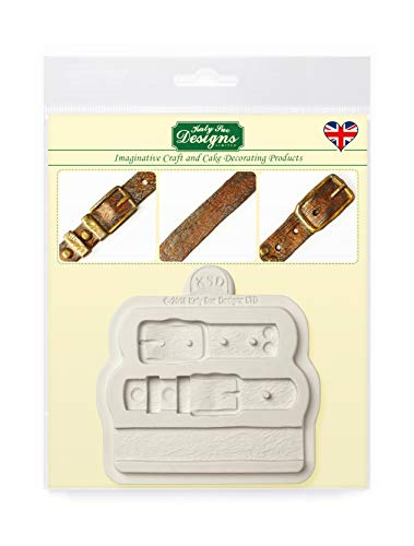 Katy Sue Designs Belt Straps Silicone Mold for Cake Decorating, Cupcakes, Sugarcraft, Candies, Clay, Crafts and Card Making, Food Safe (Clays Belt)