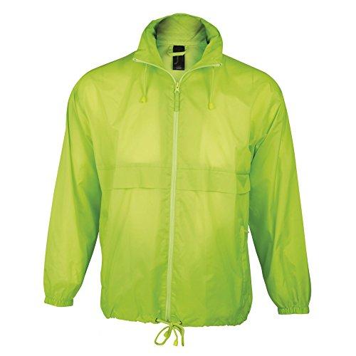 Leggera Surf Neon Giacca Sols Antivento Verde q8aER7w