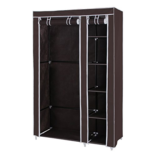 songmics-clothes-closet-portable-wardrobe-storage-organizer-with-shelves-dark-brown-43-ulsf007k
