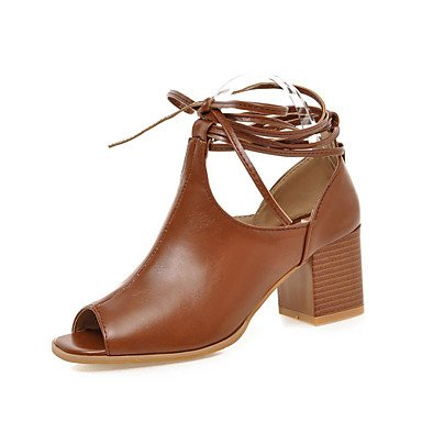 EU39 Brown Toe UK6 Women'S Shoes Black Open 5 CN40 Zormey Heels US8 Hunky 5 Dress Heel 7xz1OXnd