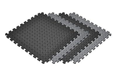 Norsk Solid Color Diamond Plate Foam Tiles - EVA Foam Interlocking Tiles