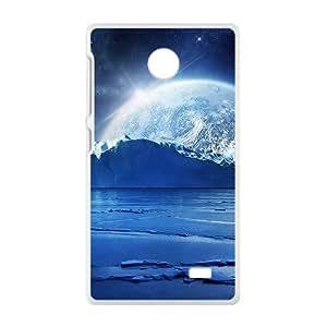 Blue Sky And Moon White Phone Case for Nokia Lumia X wangjiang maoyi