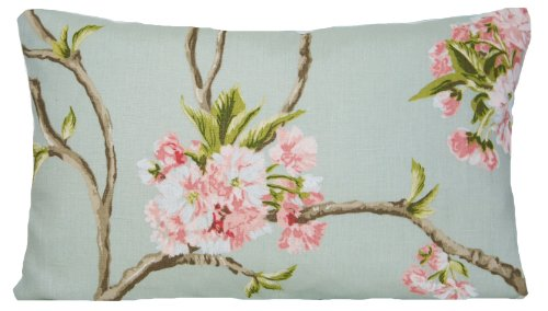 Nina Campbell Tree Orchard Blossom Decorative Throw Pillow Case Flowers Cushion Cover Duck Egg Rectangle