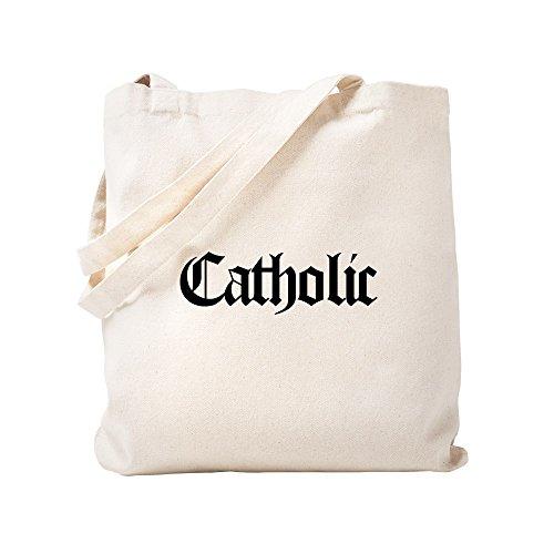 CafePress - Catholic - Natural Canvas Tote Bag, Cloth Shopping Bag by CafePress