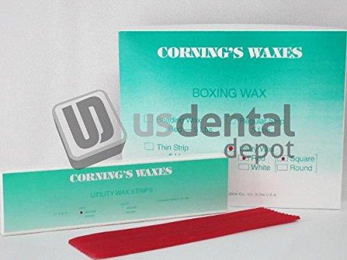 CORNING - Utility Wax Red Square Rope 44 pk - ( mfg #040 ) Small Box 106847 Us Dental Depot