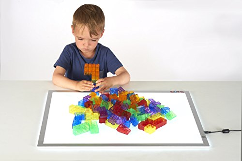 TickiT Translucent Module Blocks - Set of 90 - Translucent Building Blocks for Light and Color Exploration