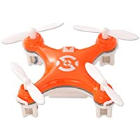 Cheerson CX-10 1.6 Mini Toy 2.4G 4CH 6 Axis Gyro 3D Flip LED RC Quadcopter Ready to Fly RTF Drone - Orange (29mm Diameter Propeller) Best Gift for Christmas Birthday Thanksgiving