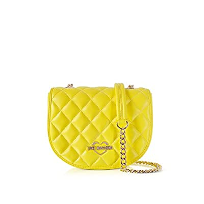 c5c5f1d90fa5 Love Moschino Women's JC4017PP15LB0400 Yellow Faux Leather Shoulder ...