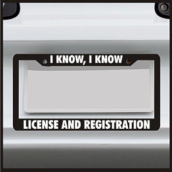 Amazon.com: Slow As Fck Funny Car License Plate Frame JDM Stance ...