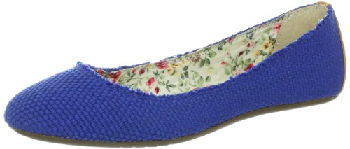Dimmi Womens Rest Ballet Flat Blue