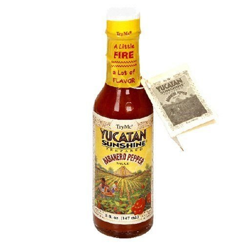 Try Me Yucatan Sunshine Habanero Pepper Sauce, 5-Ounce Bottles (Pack of 12)