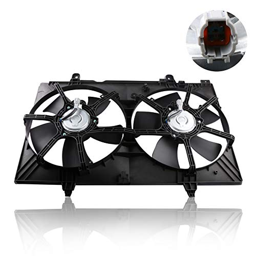 MOSTPLUS Front Dual Radiator Cooling Fan Assembly for Nissan Quest 3.5L 2004 2005 2006 2007 2008 2009