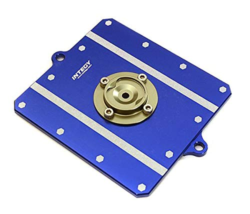 Integy RC Model Hop-ups C28499BLUE CNC Machined Alloy Fuel Cell Cover for Axial 1/10 Scale Yeti Rock Racer