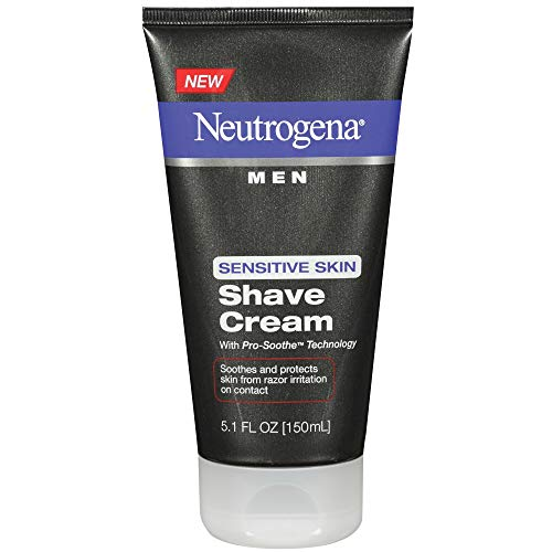 Neutrogena Men Sensitive Skin Shave Cream, 5.1 Fl. Oz (Pack of 2) (Best Type Of Razor For Sensitive Skin)