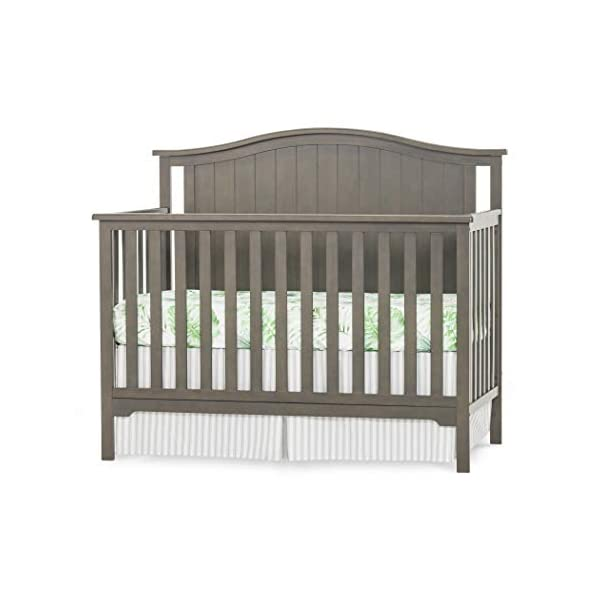 Forever Eclectic Hampton Arch-Top 4-in-1 Convertible Baby Crib, Dapper Gray