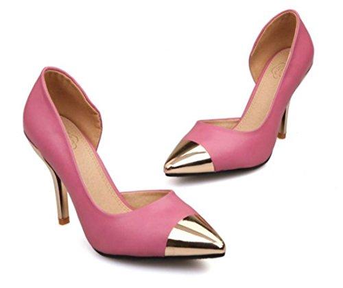 YCMDM Scarpe a punta High-Heeled DONNA sceglie i pattini d'oro , peach red , 36