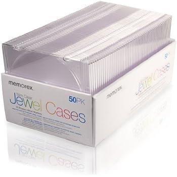 Amazon.com: Memorex 5 mm Slim CD/DVD Jewel Cases – Pack de ...