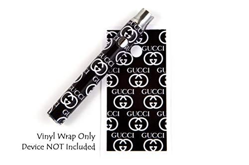 510 Threaded Battery Pen Vape Skin Wrap Decal Vinyl Sticker Black GG Designer