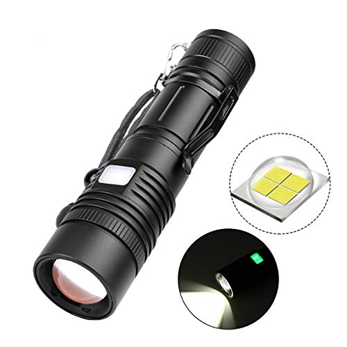 Elevin(TM)  Powerful XHP50 LED Flashlight Zoomable LED Torch Light USB Rechargeable