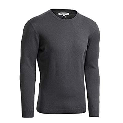 P.A Young Men's Basic Natural Cotton Solid Color Pullover Sweater for sale