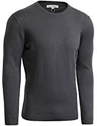 Men's Basic Natural Cotton Solid Color Pullover Sweater