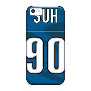 FU-3443-kyJKS Detroit Lions Fashion Tpu 5c Case Cover For Iphone