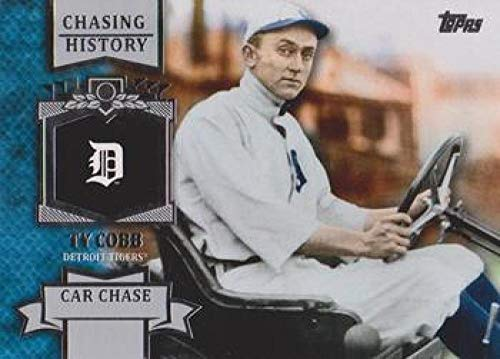 2013 Topps Chasing History #CH-94 Ty Cobb Tigers MLB Baseball Card NM-MT