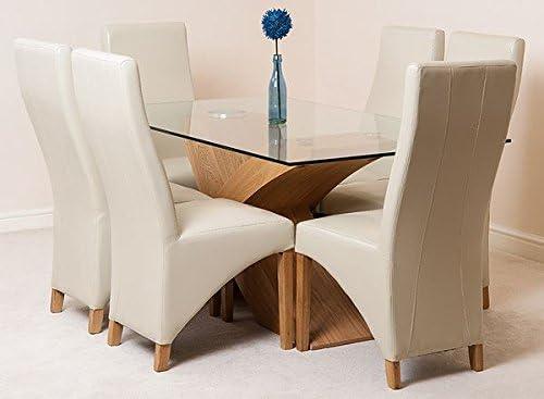 Valencia 160 - Juego de mesa de comedor con acabados de madera ...