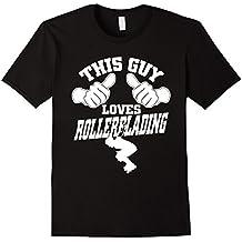 AmazingTees: This Guy Loves Rollerblading T Shirt