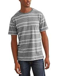 Men's Super Soft Patterned Tagless Crew Tee Shirt