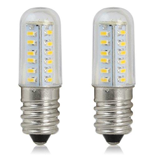 - REELCO Mini E14 LED Light Bulb 2Watt Refrigerator Light Candle Lights 120V White 6000K Equivalent 10W Halogen Bulb (2pcs Pack)