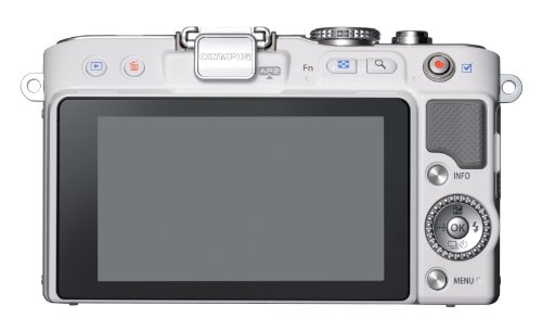Olympus PEN E-PL3 14-42mm 12.3 MP Mirrorless Digital Camera with CMOS Sensor and 3x Optical Zoom (White) (Old Model)